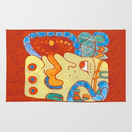 MAYAN GLYPH OF A SPIRIT UNNAMED Rug
