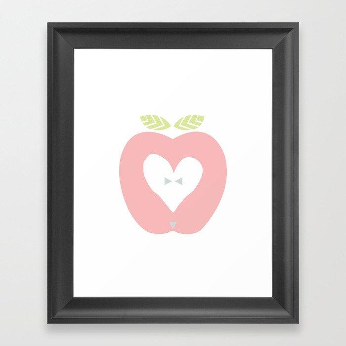 Apple décor Framed Art Print