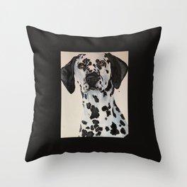 Dalmatian black Throw Pillow