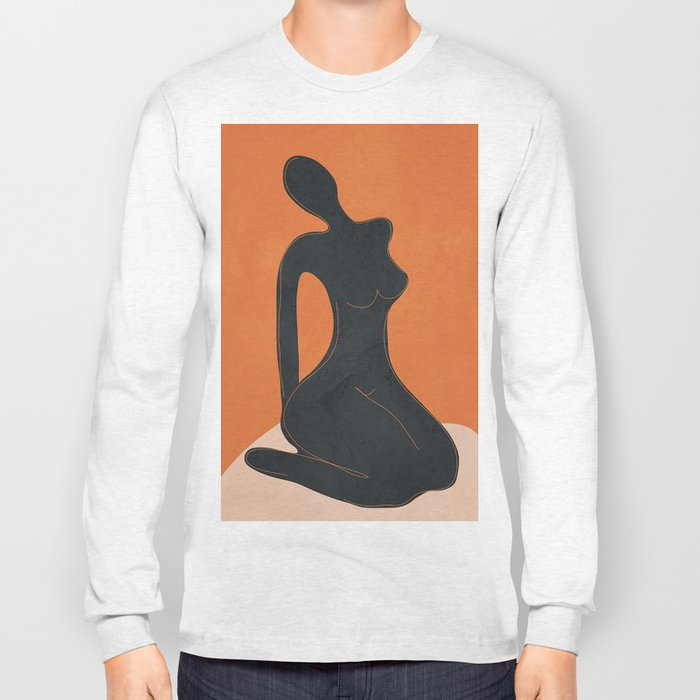Abstract Nude II Long Sleeve T-shirt