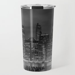 NEW YORK CITY Monochrome Night Impressions | slim panoramic Travel Mug