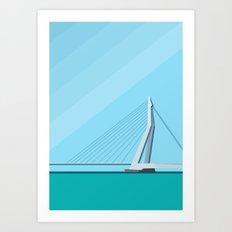 Erasmusbrug / Rotterdam Art Print