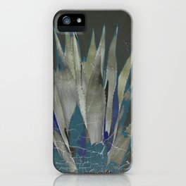 GRUBBY GREY ANTIQUE AGAVE CACTUS PIC iPhone Case
