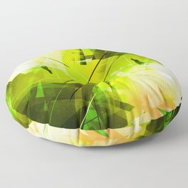Toxic - Geometric Abstract Art Floor Pillow