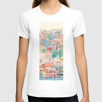 greece T-shirts featuring symi island greece by Selgun Turkoz