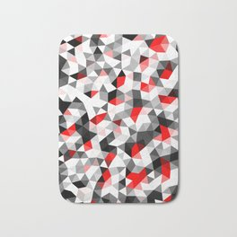Crystal Triangles Geometrical Pattern Bath Mat