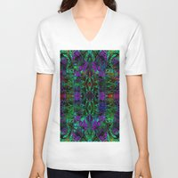 wild things V-neck T-shirts featuring Wild Things II by RingWaveArt