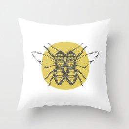 symmetry bee Throw Pillow