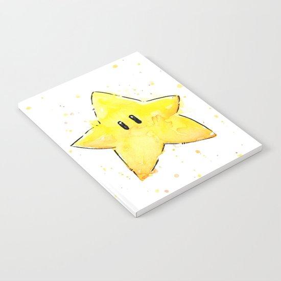 Invincibility Star Mario Art Notebook