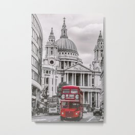 London Classic Bus Metal Print