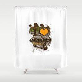 I heart gators Shower Curtain