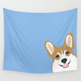 Corgi Peek  cute dog welsh corgi gift unique pet customizable gifts for dog lovers Wall Tapestry