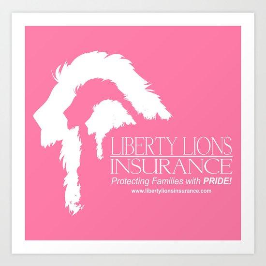 Liberty Lions Insurance Art Print