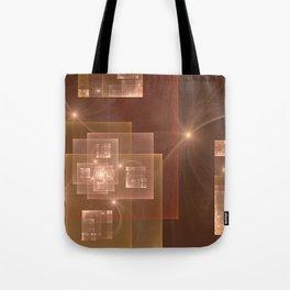 Fractal City Lights Tote Bag