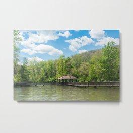 Twin Lakes Park - Gazebo Metal Print