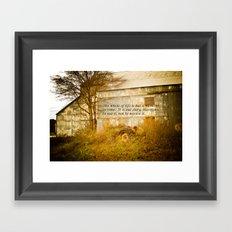 Moment in Time Framed Art Print