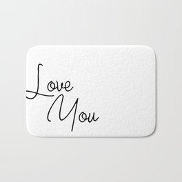 Love You Bath Mat