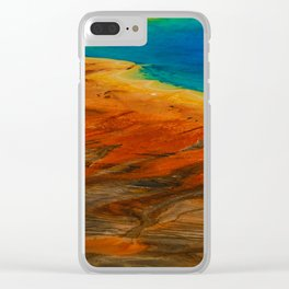 Grand Prismatic Lake Clear iPhone Case