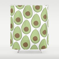 avocado Shower Curtains featuring Avocado by LEIGH ANNE BRADER