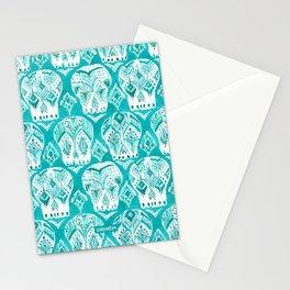 SKULLAGOG Aqua Watercolor Skulls Stationery Cards