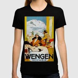 Vintage Wengen Switzerland Travel T-shirt