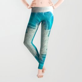 Cyan Glow Kaleidoscope 11 Leggings
