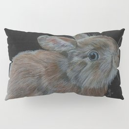 Rescued baby bunny Pillow Sham