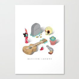 Mexican Lovers Canvas Print