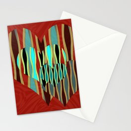 Love Exotic Hearts Stationery Cards