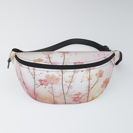 Pink Field of Flowers Fanny Pack