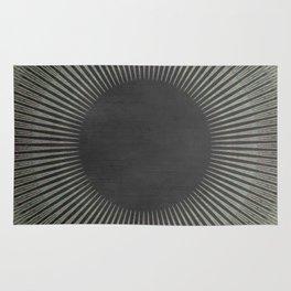 Black Pattern Rug