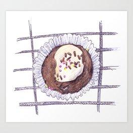 Chocolate Overload Cupcake Art Print