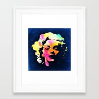 marilyn Framed Art Prints featuring Marilyn by Fimbis