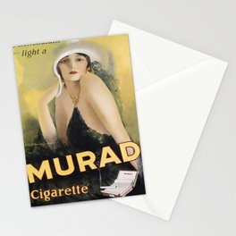 Affiche be nonchalant . . . light a murad cigarette Stationery Cards