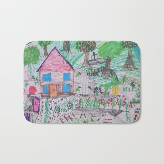Place of Love, loving the nature - Handmade from Pascal   (A7 B0238) Bath Mat