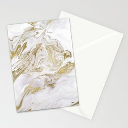 Liquid gold marble II Stationery Cards