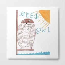 owl screech Metal Print