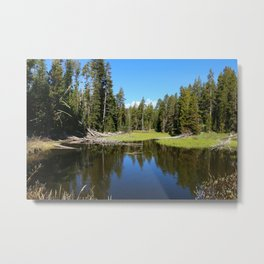Morning Serenity At The Yellowstone NP Metal Print