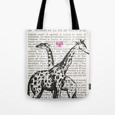 Giraffe Love Tote Bag