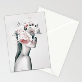 WOMAN WITH FLOWERS 11 Stationery Cards