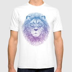 Face of a Lion White Mens Fitted Tee MEDIUM