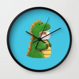 Guinea Pig in a Dinosaur Costume - Peegosaurus Rex Wall Clock