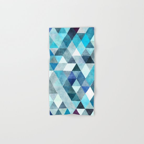 Retro Triangles Pattern 01 Hand & Bath Towel