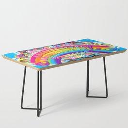 1997 Neon Rainbow Spirit Board Coffee Table