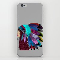 native american iPhone & iPod Skins featuring native american  by Lunah