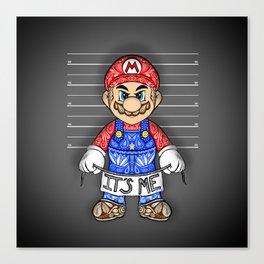 It's ME, Evil Mario !  Canvas Print