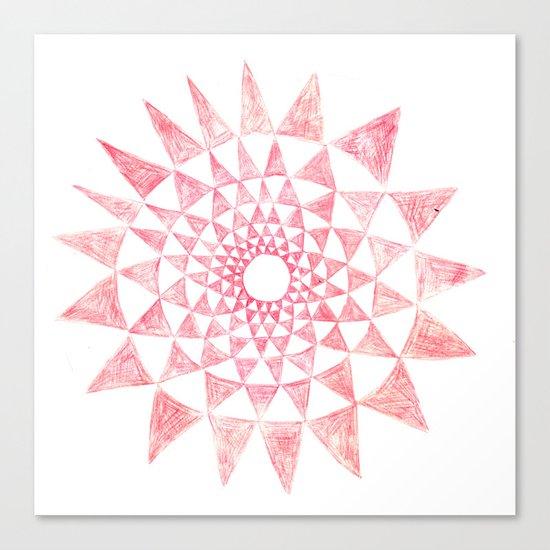 mandala:triangles Canvas Print