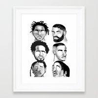 hip hop Framed Art Prints featuring Hip Hop by Tristan