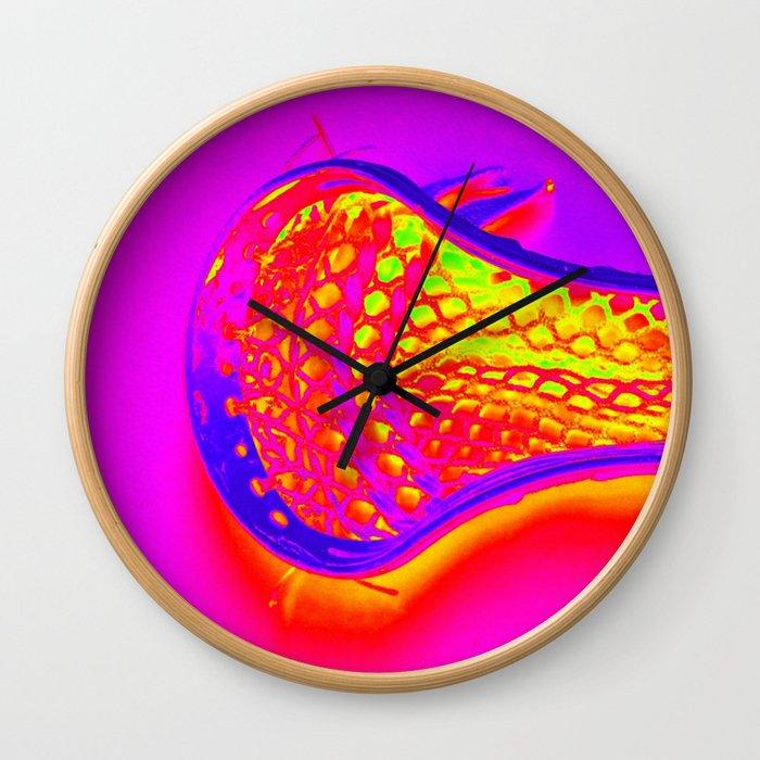 PINK LACROSSE HEAD Wall Clock