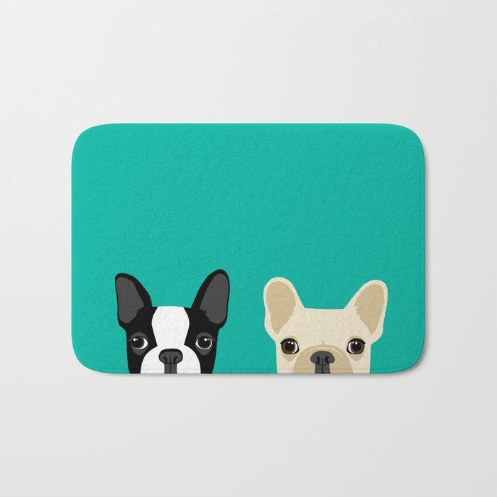 Boston Terrier & French Bulldog 2 Bath Mat